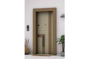 Doorplus Çelik Kapı A- Plus 4x4 Güvenlikli Karamel 1015