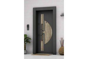 Laminoks Çelik Kapı A- Plus 4x4 Güvenlikli Antrasit Gri 1025