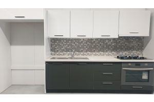 Evim Laura Buzdolabı Modüllü Hazır Mutfak 200+90 cm Beyaz Antrasit