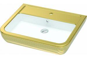 İdevit Halley Altın Dekorlu Tezgah Üstü Lavabo 320104551101
