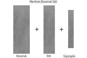 Evim Teknik Granit Seramik Ark Anthracite Basamak Seti 1602