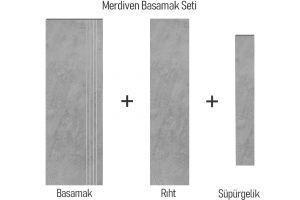 Evim Teknik Granit Seramik Ark Silver Basamak Seti 1604