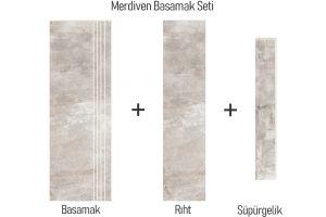 Evim Teknik Granit Seramik Choice White Basamak Seti 1611