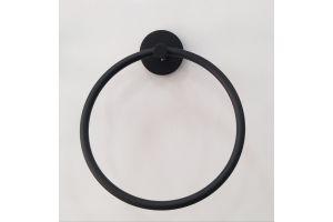 Defne-Gardenya Siyah Yuvarlak Havluluk 70316 DEF282
