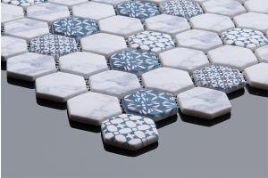 Evim Dijital Baskılı Altıgen Mozaik FBDJ017