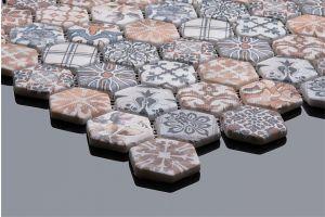 Evim Dijital Baskılı Altıgen Mozaik FBDJ045