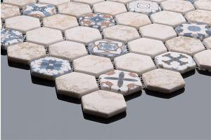 Evim Dijital Baskılı Altıgen Mozaik FBDJ053