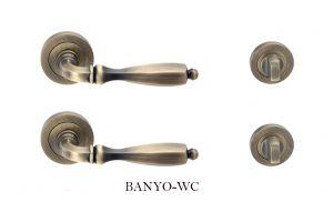 Hafele Olimpia Banyo-Wc Kapı Kolu Takımı Antik Bronz 901.78.221