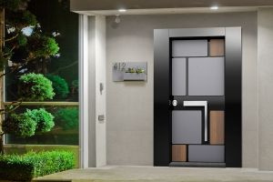 Boyut Çelik Kapı Butik Serisi Siyah Antrasit Ceviz ISLAND001