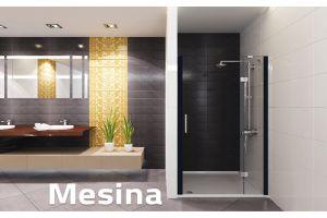 Deko Mesina Su İticili Mat Siyah Duşakabin 90x100 cm