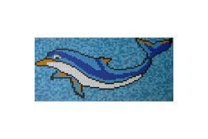 Evim Dolphin Havuz Cam Mozaik Deseni